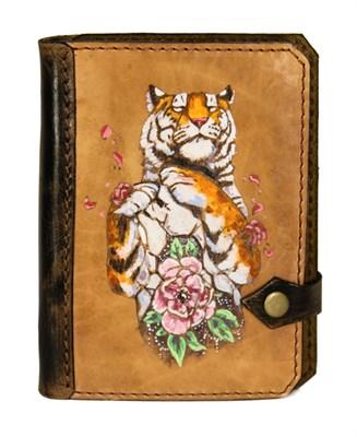 """5 Блокнот А6 """"Гомер"""" - """"Тигр и цветок (цвет)"""" (п) - фото 5774"""